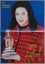 Michael Jackson 2 sided poster from Popcorn magazine History Scream