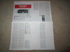 Nakamichi CR-7a Cassette Review, 4 pgs, 1986, Full Test
