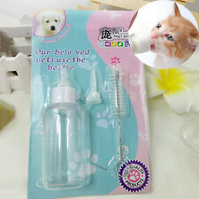 Pet Small Dog Puppy Cat Kitten Rabbit Milk Nursing Care Feeding Bottle Set ^YT