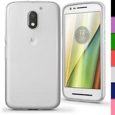Glossy TPU Gel Case for Motorola Moto E 3rd Gen 2016 Skin Cover + Screen Prot