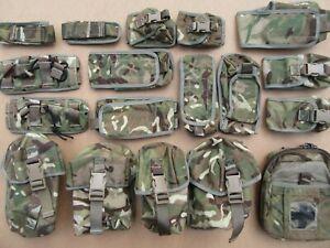 Osprey, MTP, MOLLE webbing pouch set x 18. Utility, Medic, Ammo, Water, UGL etc