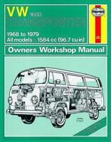 Volkswagen VW Transporter 1600 1968 - 1979 up to V Reg. Haynes Manual 0082 NEW