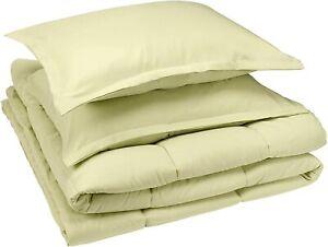 Amazon Basics Comforter Set Full/Queen Microfiber Ultra-Soft, OPEN BOX