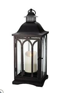 QVC Luminara Cathedral Candle Lantern by Bethlehem Lights