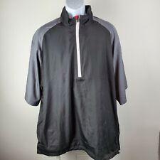 LevelWear Black Gray Golf Pullover Zip Wind Shirt Short Sleeve Sz 2XL