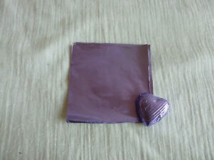 40 -50 Square Foil Wrappers in Lilac for Chocolates & Sweets. 80mm x 80mm.