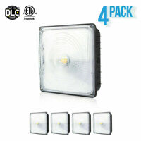 4 x PARMIDA 70W Canopy Light Dimmable Waterproof DLC/ETL 5000K Garage Commercial