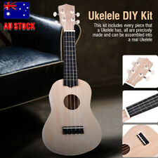 21'' Tenor Ukelele Soprano Hawaii Guitar DIY Kit Basswood Fingerboard Accessory