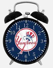 "New York Yankees Alarm Desk Clock 3.75"" Home or Office Decor W103 Nice For Gifts"