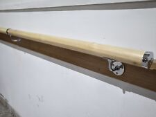2M x 45mm Staircase Pine Wall Handrail Banister Rail Chrome Support Kit- DIY
