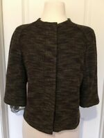 StJohn Couture Brown/ GreenTweed Jacket Size 12