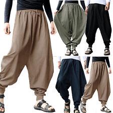 Hombre Pantalones Anchos Estrechado Indio Basculador Pernera Ancha Estilo Árabe