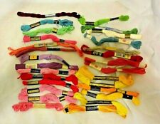 Vtg Embroidery Floss Mixed Lot of 28 NOS Lily Bucilla Star Perlene Royal Society