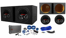 "(2) JVC CS-G1210 12"" 2400W Subs+Vented Box+RXD-M2 3000W Mono Amplifier+Amp Kit"