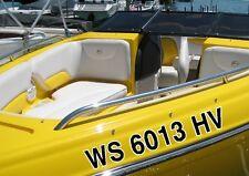 "Custom Boat Registration 3"" Numbers + Outline Decal Sticker Vinyl Letters Pair"
