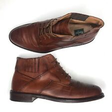 Cable Co Italian Leather Cognac Wingtip Boot Mens Size 11 Brogue