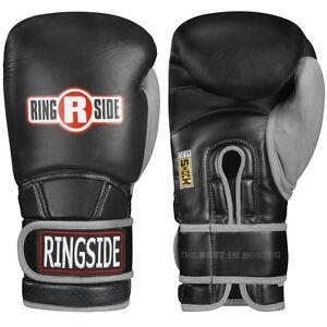 New Ringside Boxing MMA Kickboxing Gel Shock Safety Sparring 16oz Gloves - Black