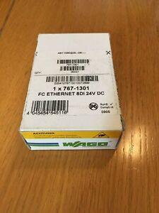 WAGO 767-1301 Ethernet Programmable Fieldbus Coupler / 8DI, 24V DC
