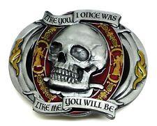 Biker Belt Buckle Skull Gothic Design Motorcycle Bike Authentic Dragon Designs