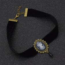 1pc Ribbon Black Chocker Victorian Head Necklace Vintage Gothic Jewellery Women