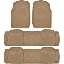 Full Set Floor Mats for Chrysler Town & Country 4 Piece 3 Row Beige Semi Custom