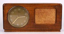 VINTAGE 1930 SWITANA SWISS OAK WOOD ALARM CLOCK & REUGE WALTZ MUSIC BOX