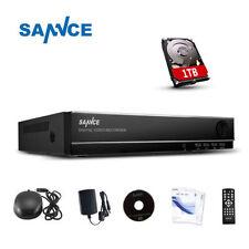 SANNCE 4CH 960H HDMI DVR Kit di Videosorveglianza Accesso remoto Codice QR 1TB