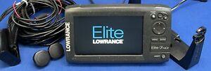 Lowrance Elite 7 HDI GPS Chartplotter Fish Finder Sonar Display W/ Mount & Ducer