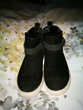 Next Chelsea ankle Boots black suede Star size 1