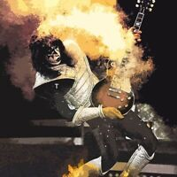 KISS Ace Frehley Guitar BANNER HUGE 4X4  Poster Flag Tapestry album cover art