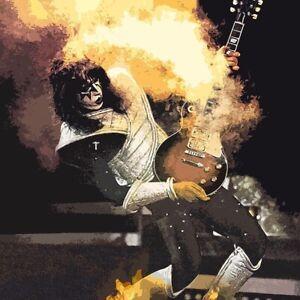 KISS Ace Frehley Guitar BANNER HUGE 4X4  Poster Flag Tapestry album cover art