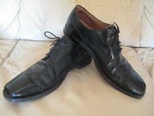 LOAKE Men's Black Leather Oxford Shoes - UK 8.5