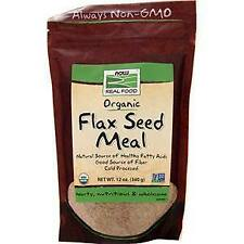 Now Flax Seed Meal - Certified Organic  12 oz