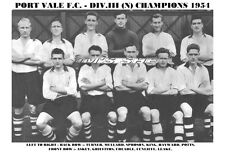 PORT VALE F.C.TEAM PRINT 1954 (DIV.3 NORTH CHAMPIONS)