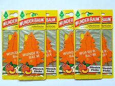 (1,50€/Einheit) 6x WUNDER-BAUM® Pfirsich Duft Lufterfrischer Duftbaum Autoduft