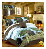 BLACK BEAR CUBS 6-8pc Comforter Set w/Sheets Rustic Cabin Lodge Woodland Streams