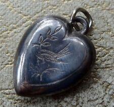 Love & Hearts Silver Vintage Costume Jewellery (1970s)