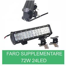 FARO LAMPADA SUPPLEMENTARE PROFONDITA' PER AUTO FUORISTRADA 12V 24 LED 72W IP67