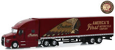 2019 Mack Anthem with Trailer Indian Motorcycle, greenlight Car Model 1:64