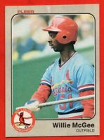1983 Fleer #15 Willie McGee EX-EXMINT Rookie RC St. Louis Cardinals FREE SHIP