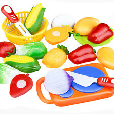 12Pcs Set Kid Kitchen Toy Plastic Fruit Vegetable Food Cutting Pretend Play Toys