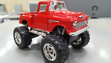 1955 Chevy Stepside (OFF-ROAD) Rojo Kinsmart Modelo Juguete 1/32 Escala