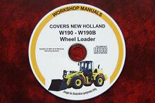 NEW HOLLAND W190 & W190B WHEEL LOADER WORKSHOP REPAIR MANUAL