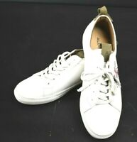 Aldo Mens Star Auvrai Leather Low Top Lace Up Running Sneaker, White, Size 11.0