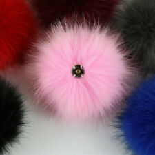 10cm Faux Raccoon Fur Fluffy Pom Pom Ball For Hat Clothing Bag Shoes Keychain