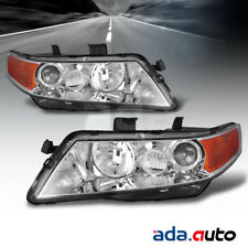 2004 2005 2006 2007 2008 Acura TSX Chrome Projector Amber Headlights Pair