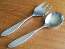 LAUFFER TOWLE MAGNUM SERVING SET JAPAN STAINLESS FLATWARE SOLID SPOON FORK TWO