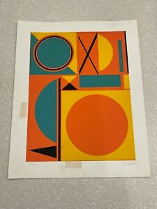 Orig 1970s Lithograph A Kessler, Signed/Numbered 20 x 26