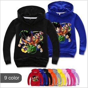 Kids Dragon Ball Z Goku Hooded Hoodie Sweatshirt Sports Pullover Jumper Coat Top