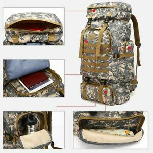 Military Tactical Backpack Camping Bag Travel Sports Shoulder Waterproof E9H3
